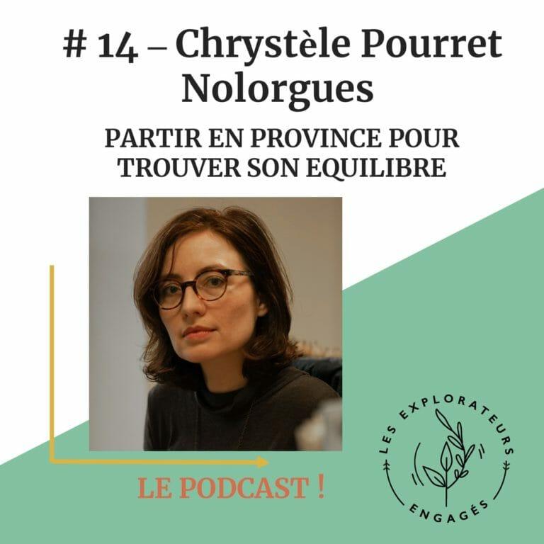 Read more about the article #14 Chrystèle Pourret Nolorgues – Partir en province pour trouver son équilibre